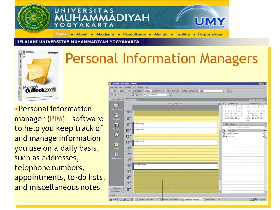 Personal Information Managers