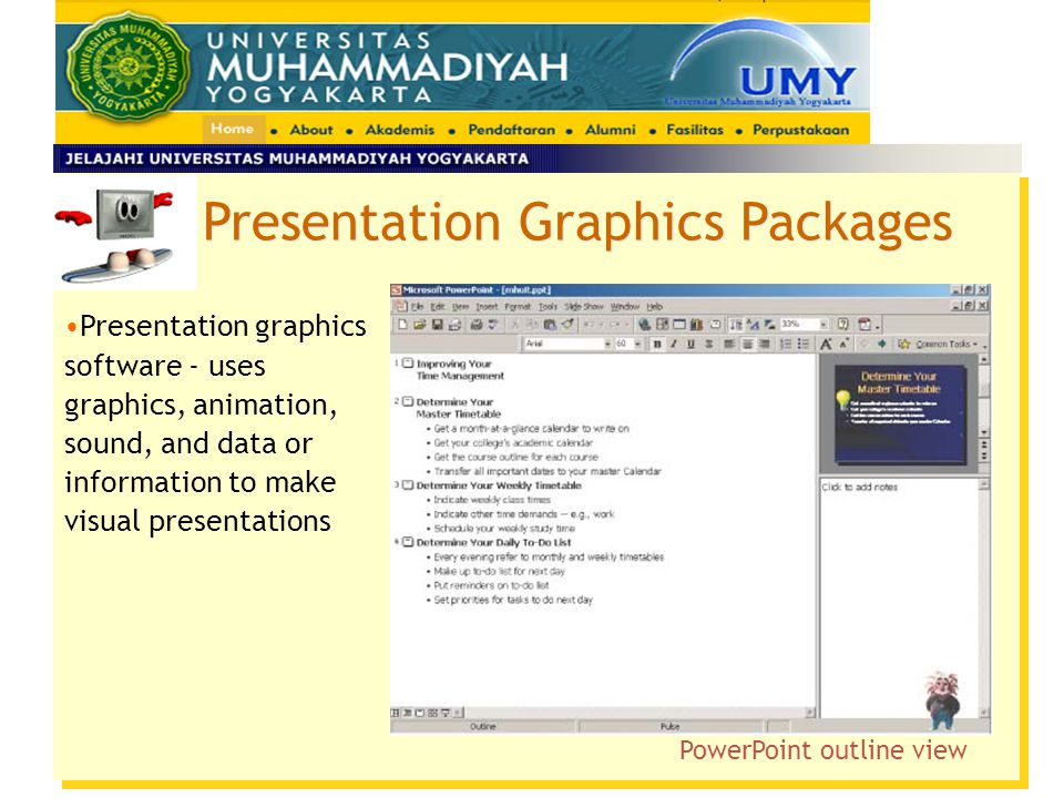 PowerPoint outline view