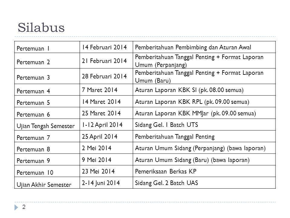 Silabus Pertemuan 1 14 Februari 2014