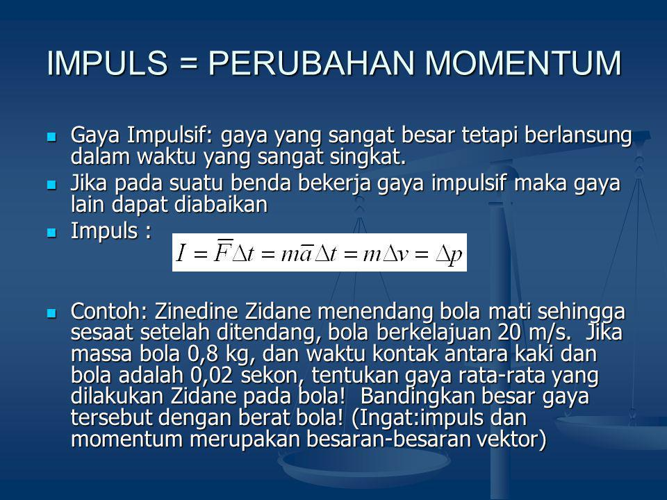 IMPULS = PERUBAHAN MOMENTUM