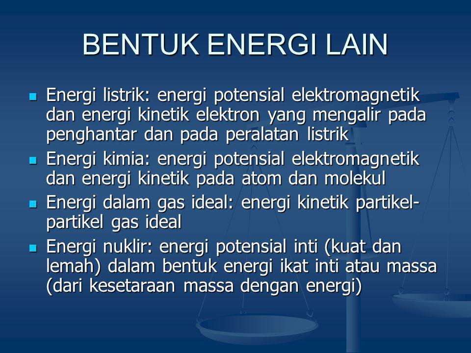 BENTUK ENERGI LAIN