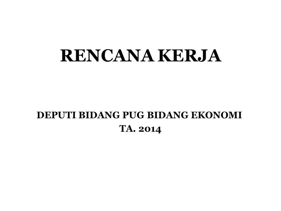 DEPUTI BIDANG PUG BIDANG EKONOMI TA. 2014