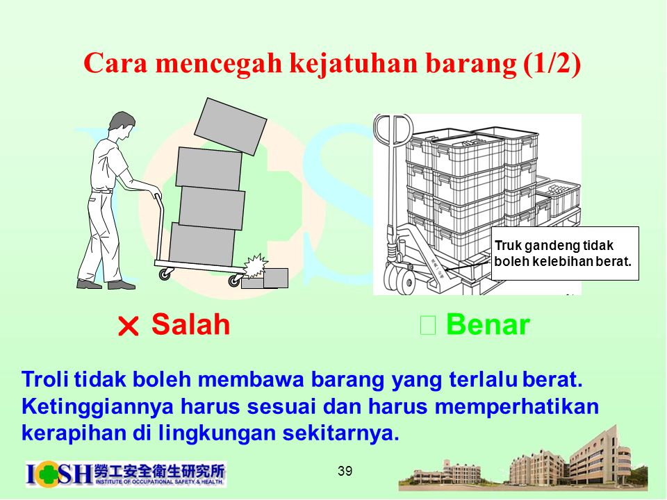 Cara mencegah kejatuhan barang (1/2)