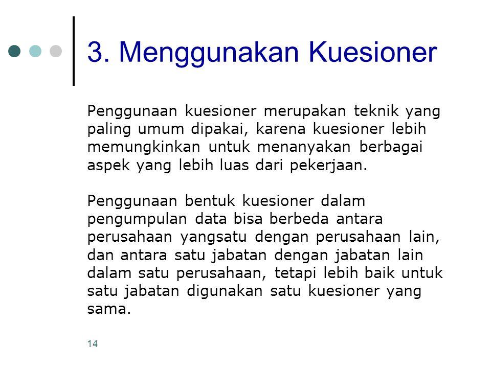 3. Menggunakan Kuesioner