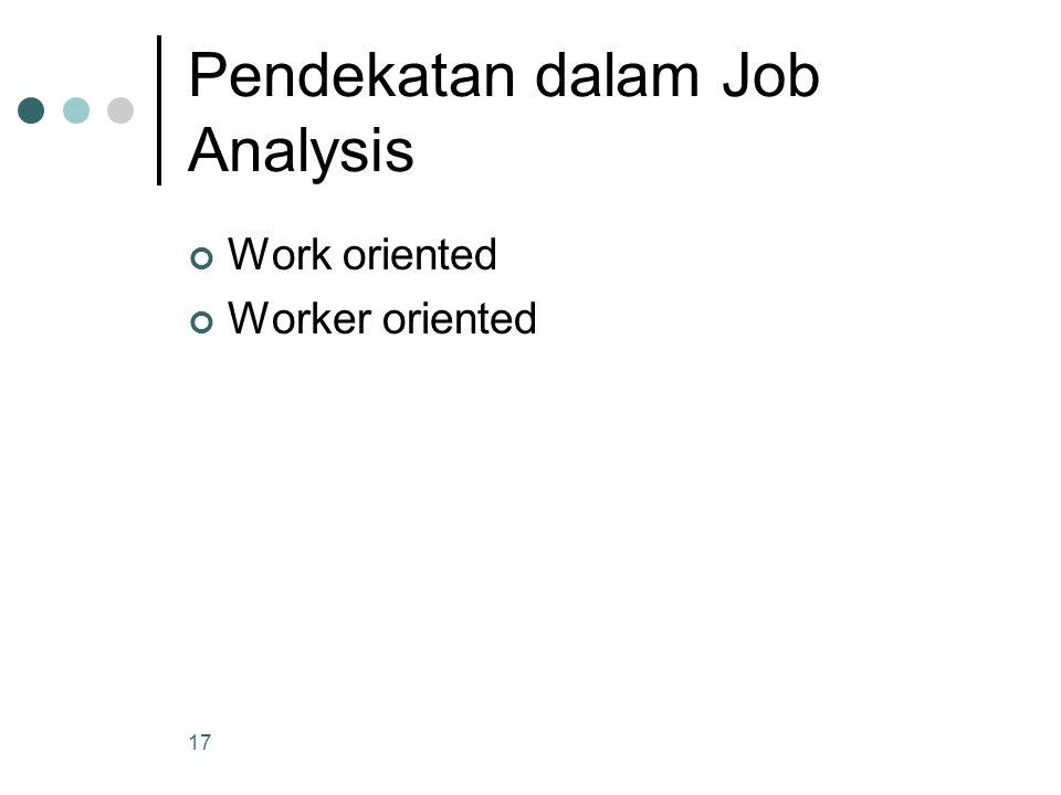 Pendekatan dalam Job Analysis