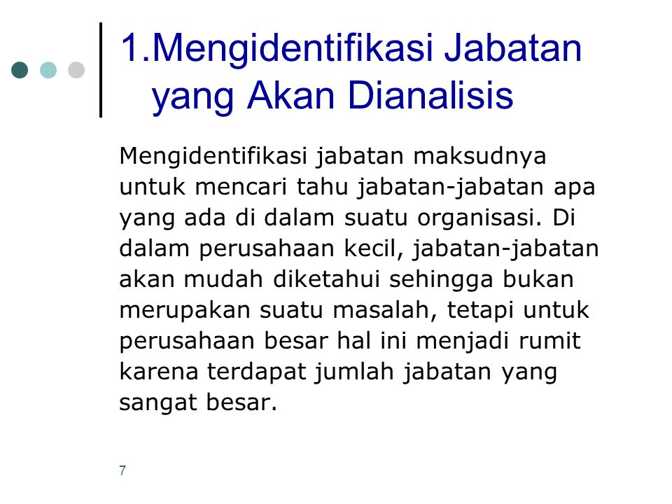 1.Mengidentifikasi Jabatan yang Akan Dianalisis
