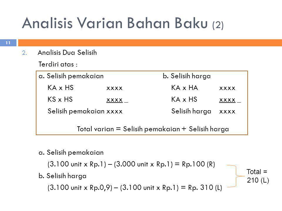 Analisis Varian Bahan Baku (2)