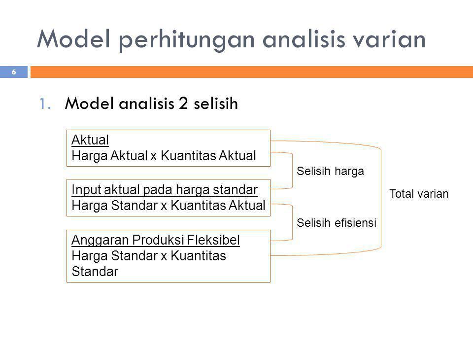 Model perhitungan analisis varian