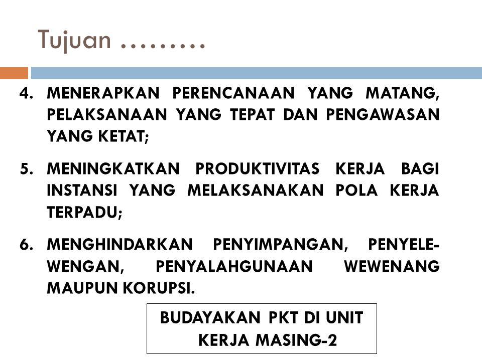 BUDAYAKAN PKT DI UNIT KERJA MASING-2