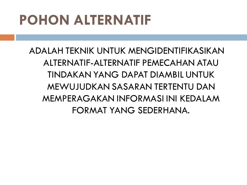 POHON ALTERNATIF