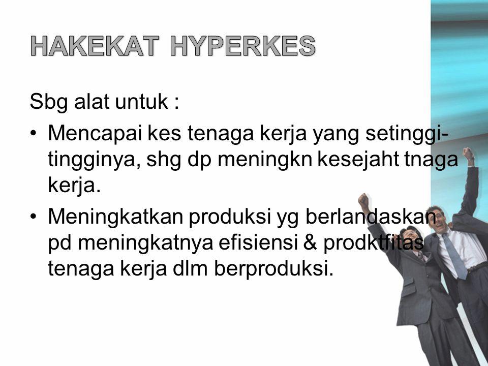 HAKEKAT HYPERKES Sbg alat untuk :