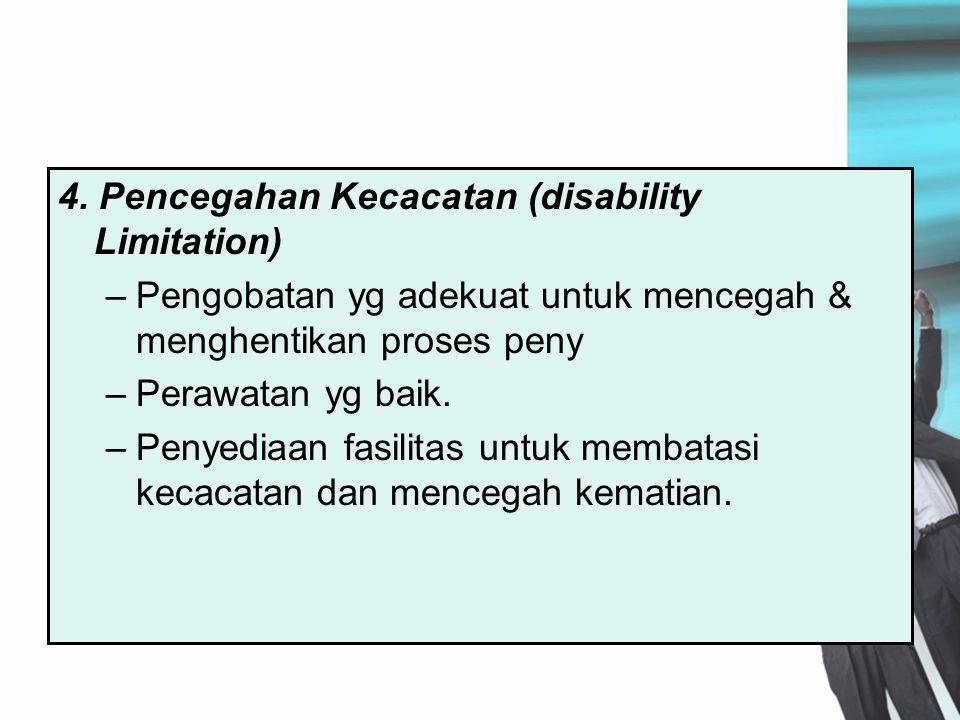4. Pencegahan Kecacatan (disability Limitation)