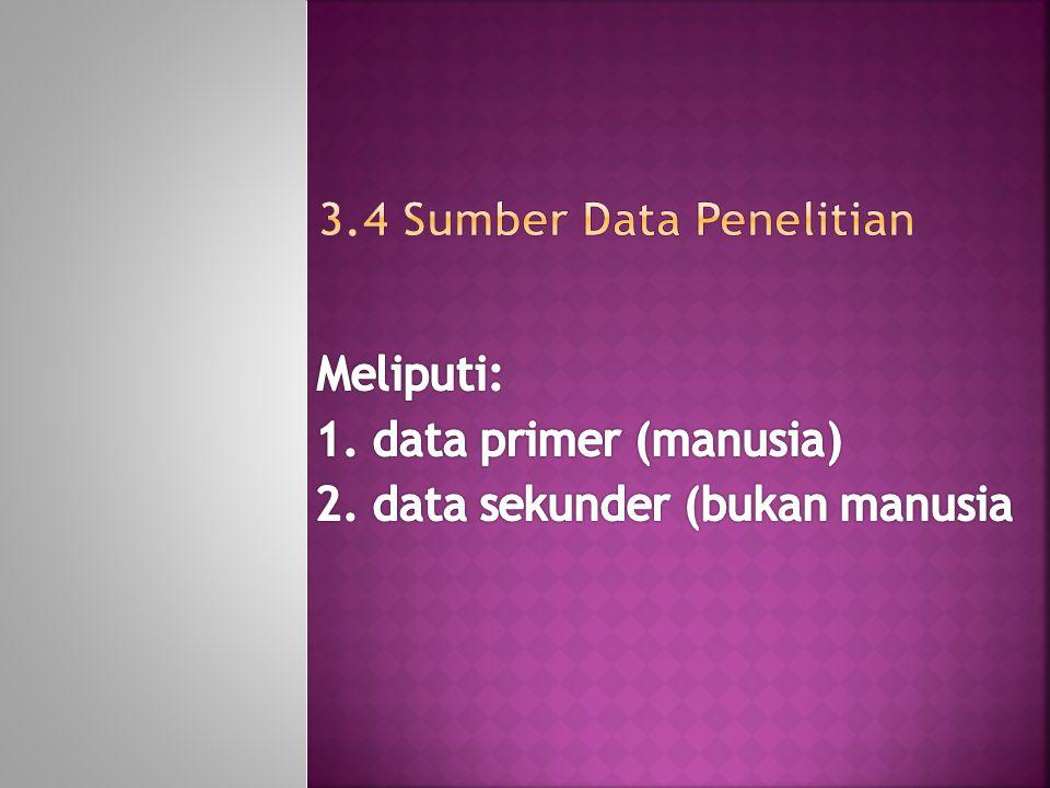 3.4 Sumber Data Penelitian