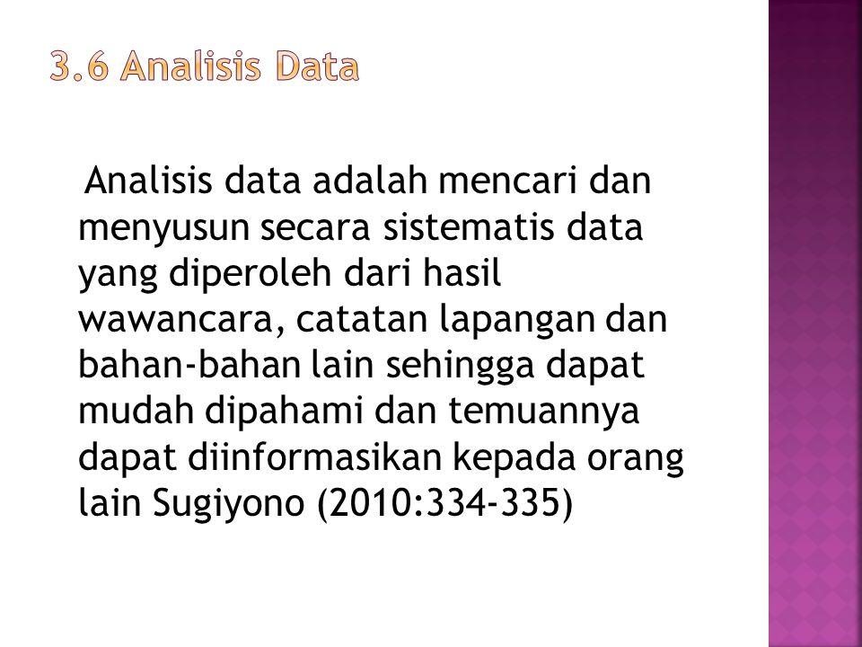 3.6 Analisis Data