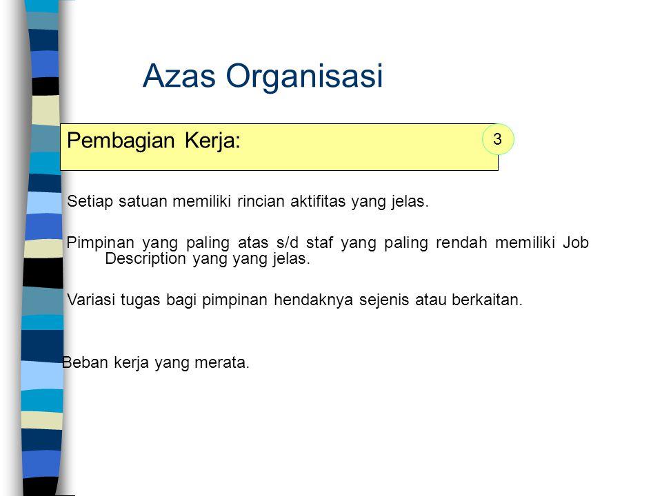 Azas Organisasi Pembagian Kerja: 3
