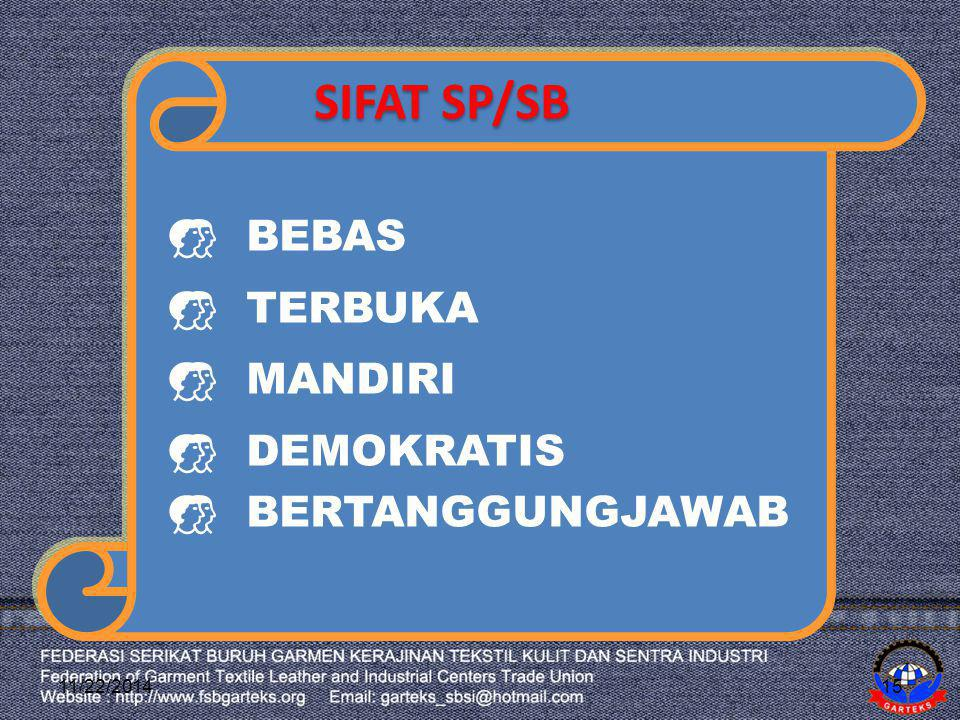 SIFAT SP/SB BEBAS TERBUKA MANDIRI DEMOKRATIS BERTANGGUNGJAWAB 4/7/2017