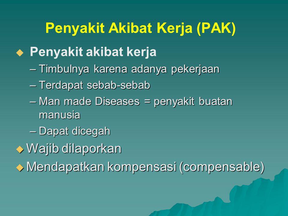 Penyakit Akibat Kerja (PAK)