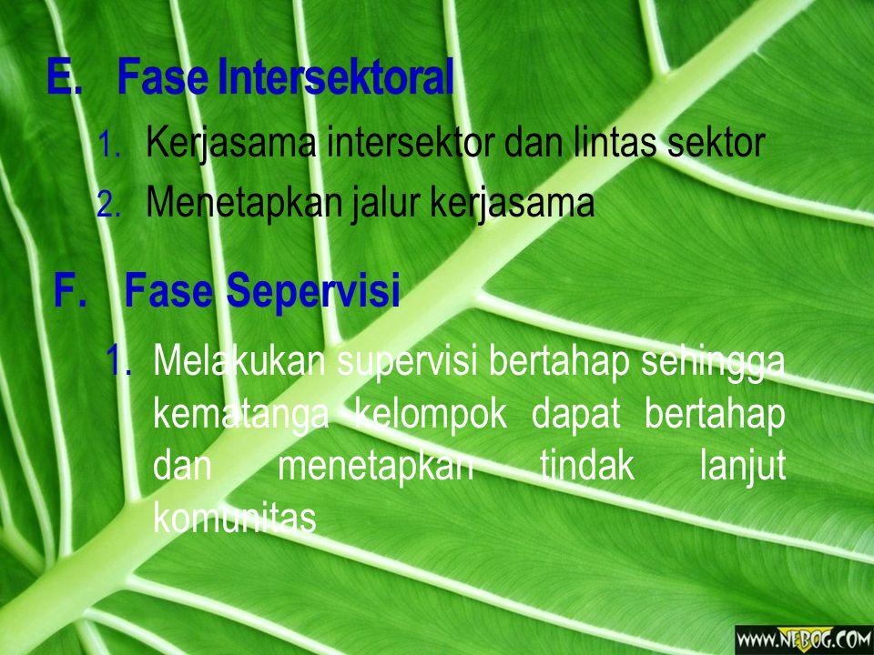 Fase Intersektoral Fase Sepervisi