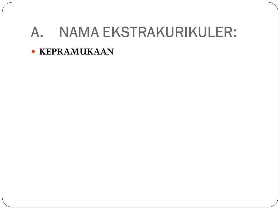 A. NAMA EKSTRAKURIKULER: