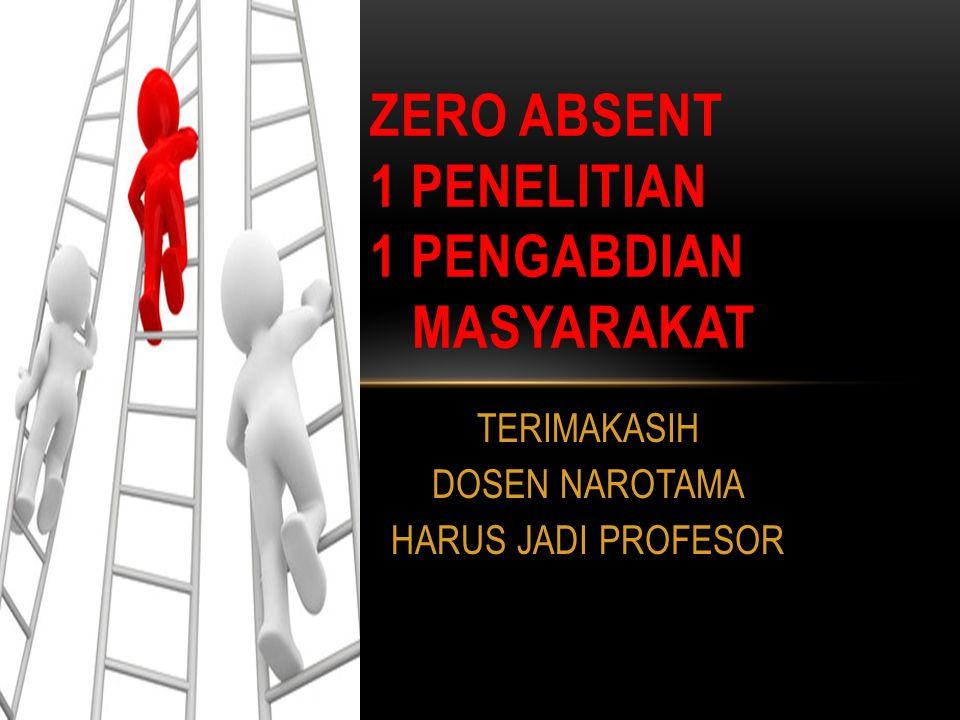 ZERO ABSENT 1 PENELITIAN 1 PENGABDIAN MASYARAKAT