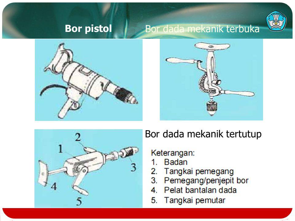 Bor pistol Bor dada mekanik terbuka Bor dada mekanik tertutup