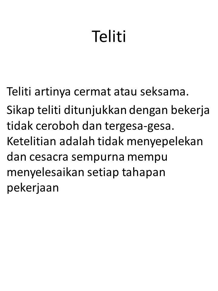 Teliti