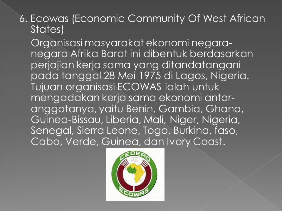 6. Ecowas (Economic Community Of West African States)