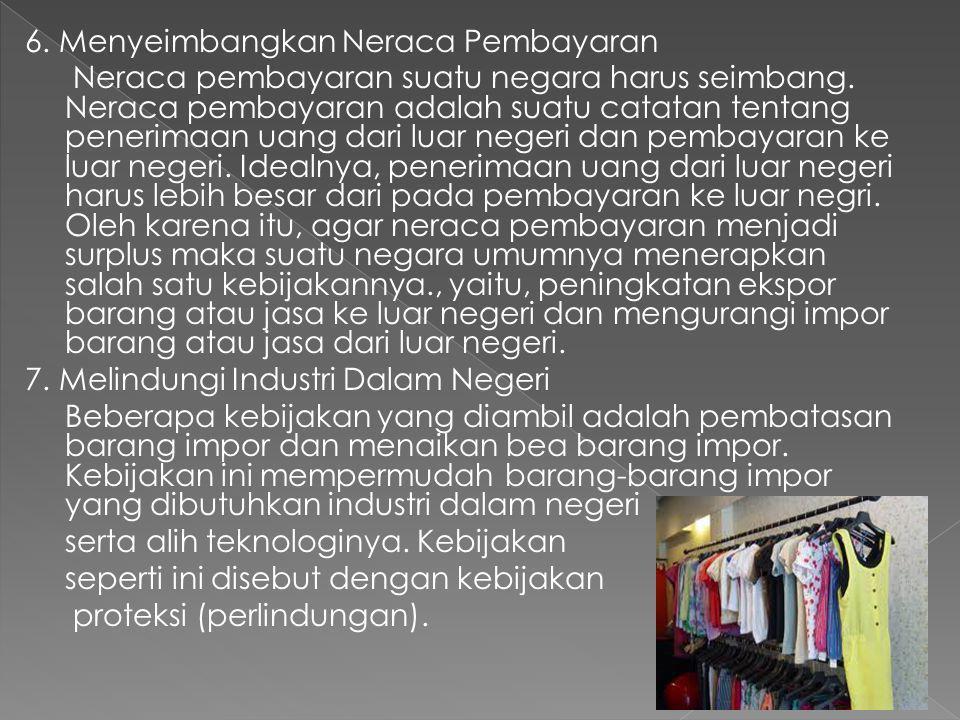 6. Menyeimbangkan Neraca Pembayaran