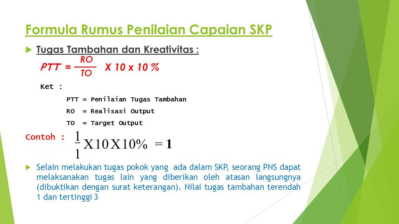 Formula Rumus Penilaian Capaian SKP