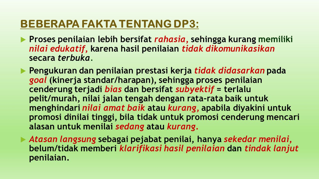 BEBERAPA FAKTA TENTANG DP3: