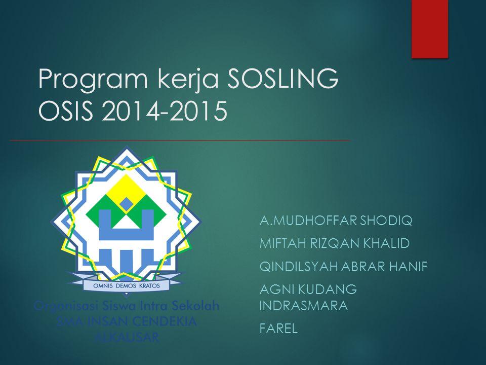 Program kerja SOSLING OSIS 2014-2015
