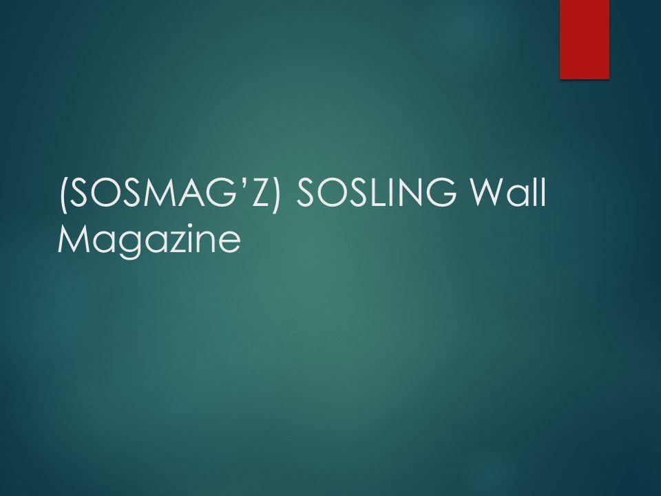 (SOSMAG'Z) SOSLING Wall Magazine