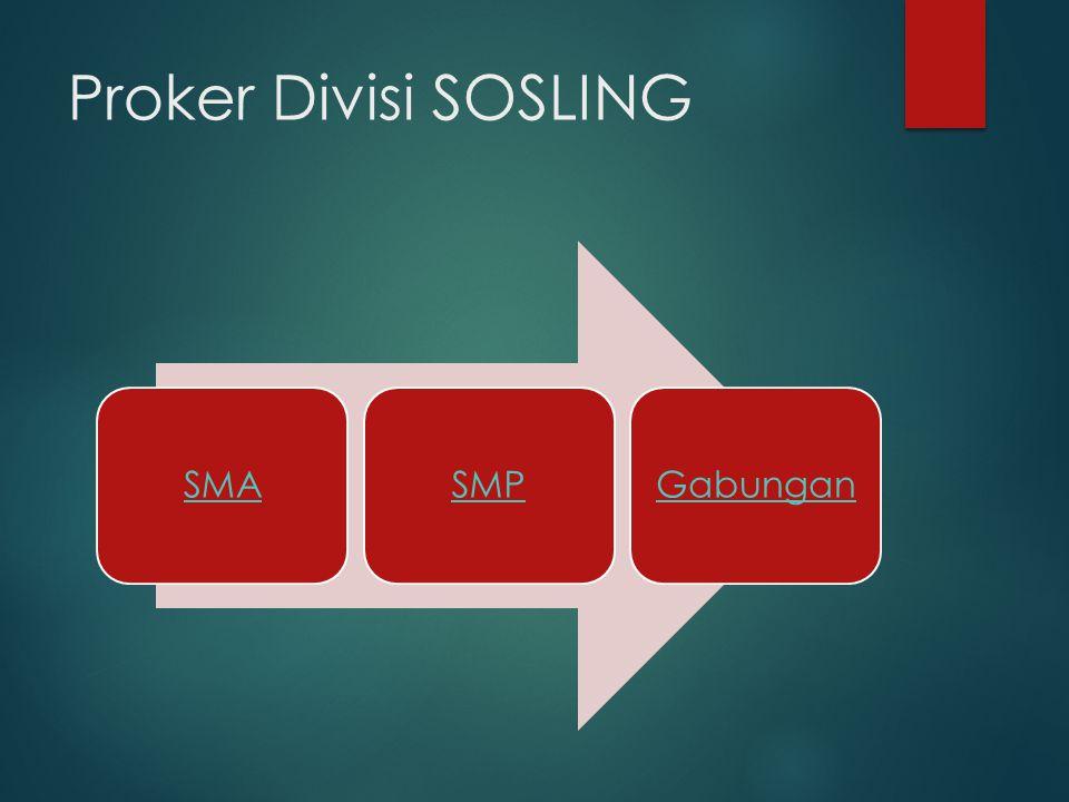 Proker Divisi SOSLING SMA SMP Gabungan