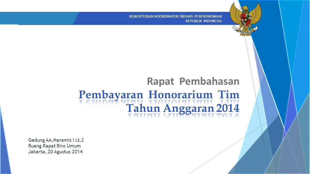Rapat Pembahasan Pembayaran Honorarium Tim Tahun Anggaran 2014