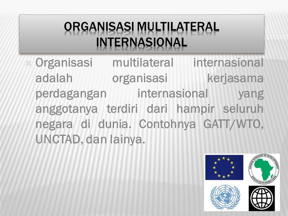 ORGANISASI MULTILATERAL INTERNASIONAL
