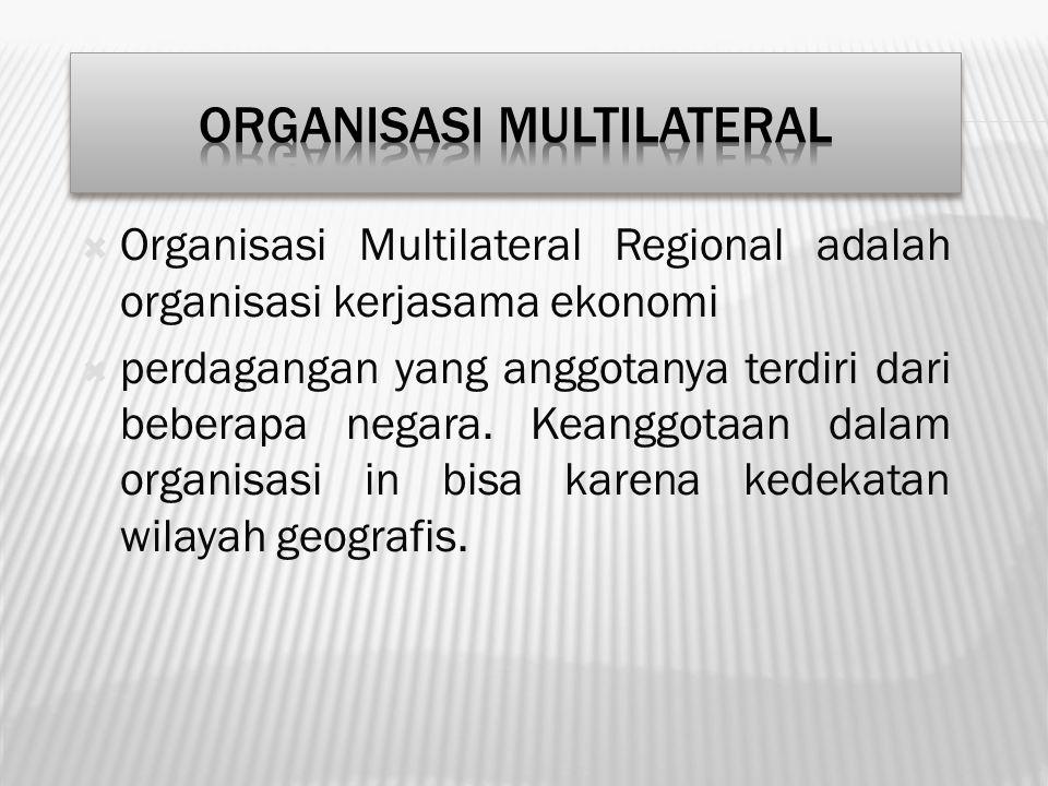 ORGANISASI MULTILATERAL