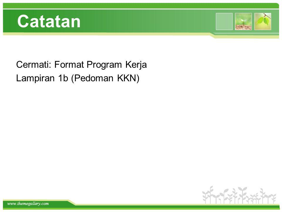 Catatan Cermati: Format Program Kerja Lampiran 1b (Pedoman KKN)