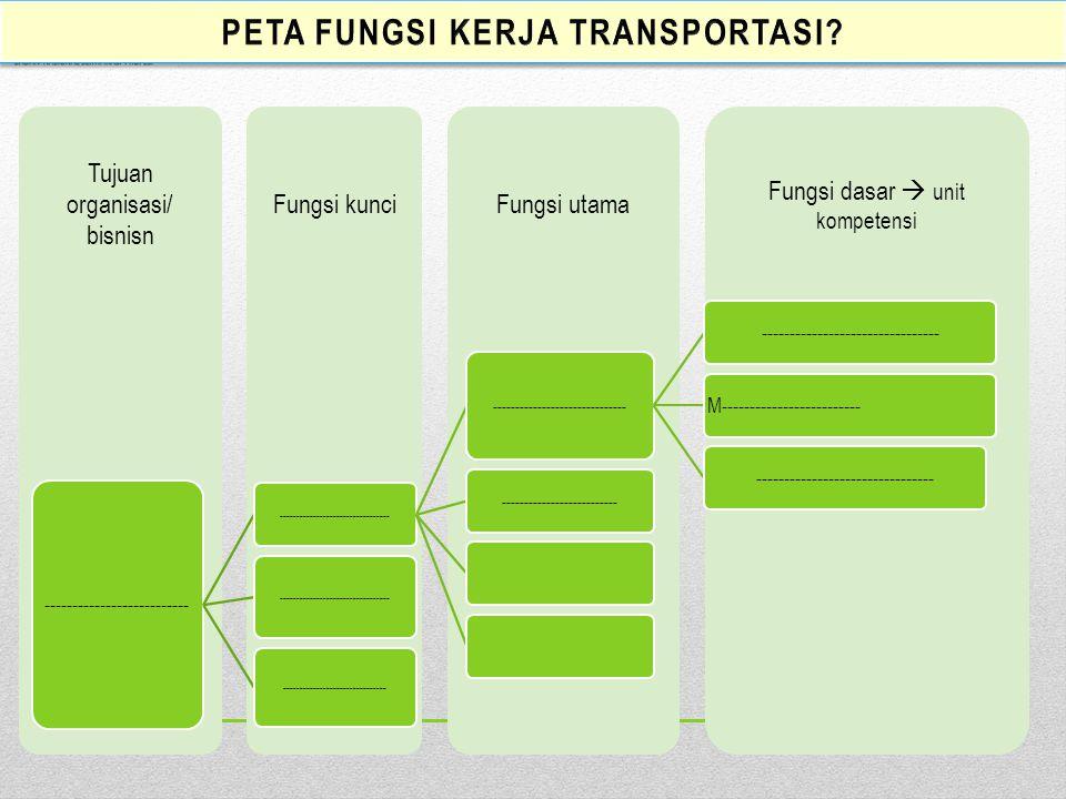 PETA FUNGSI KERJA transportasi