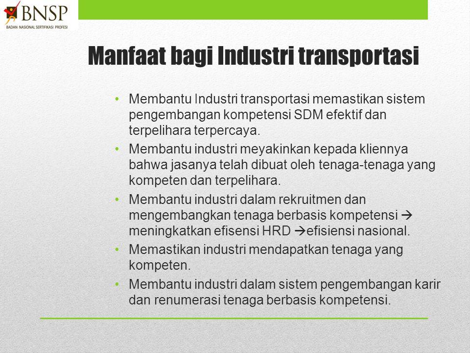 Manfaat bagi Industri transportasi