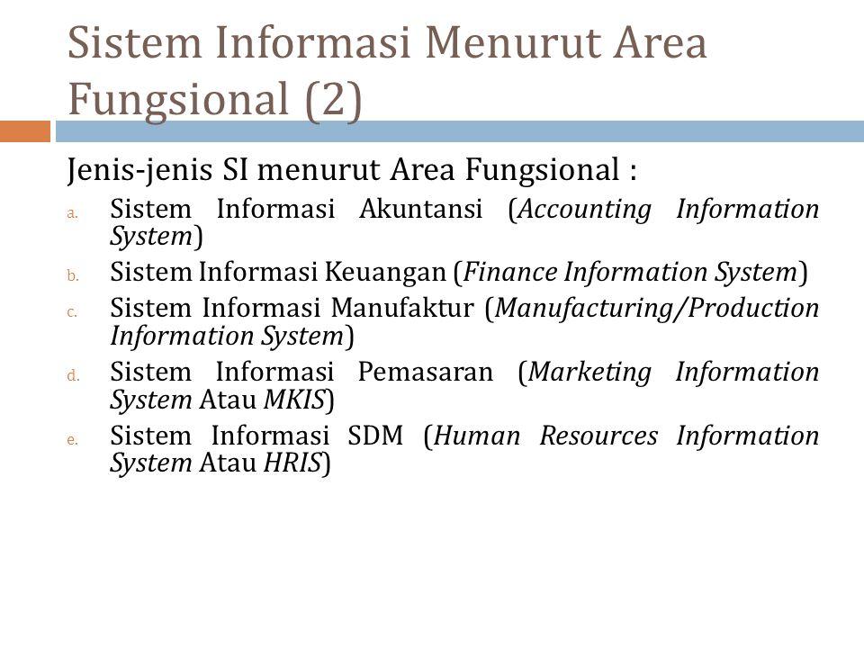 Sistem Informasi Menurut Area Fungsional (2)