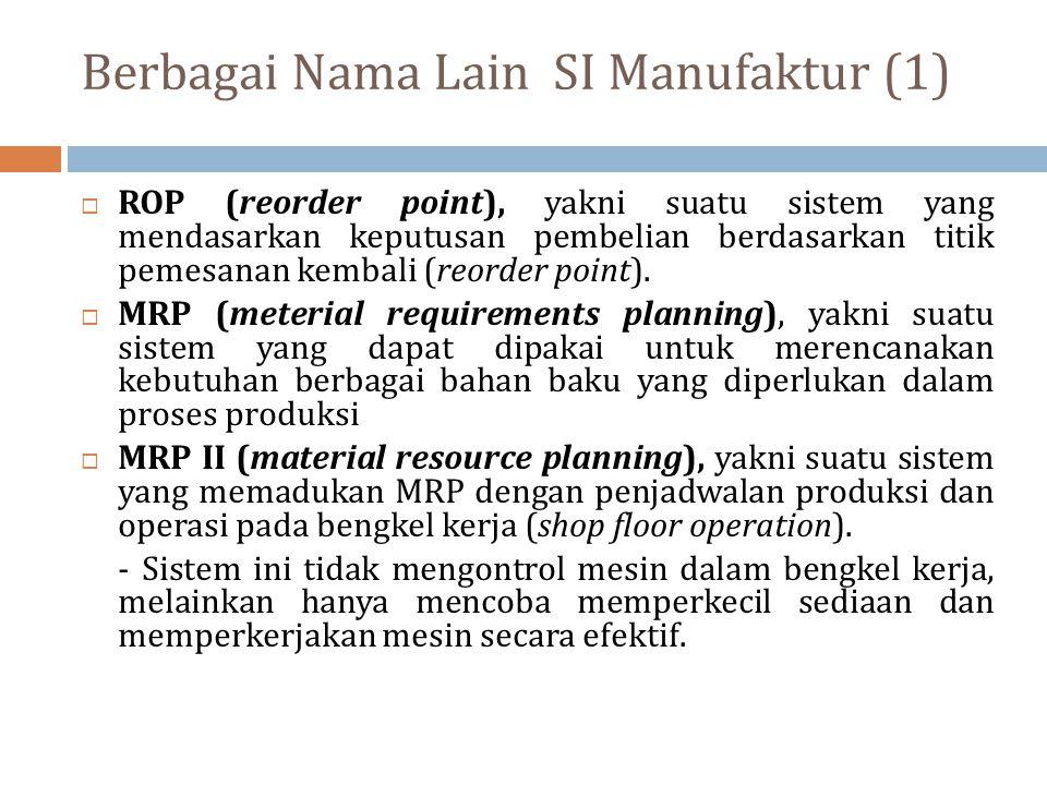 Berbagai Nama Lain SI Manufaktur (1)