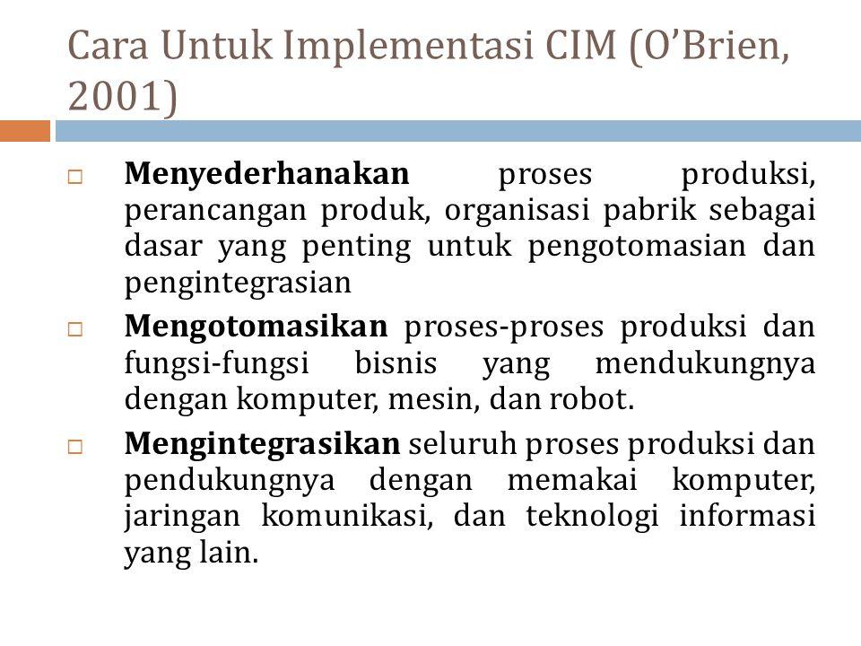 Cara Untuk Implementasi CIM (O'Brien, 2001)