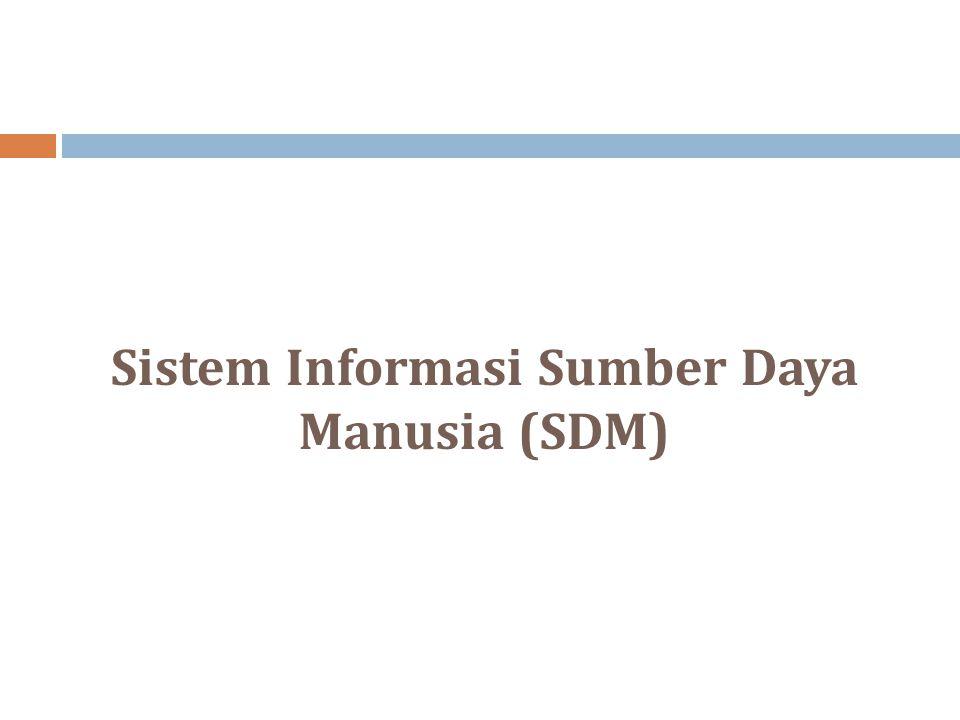 Sistem Informasi Sumber Daya Manusia (SDM)