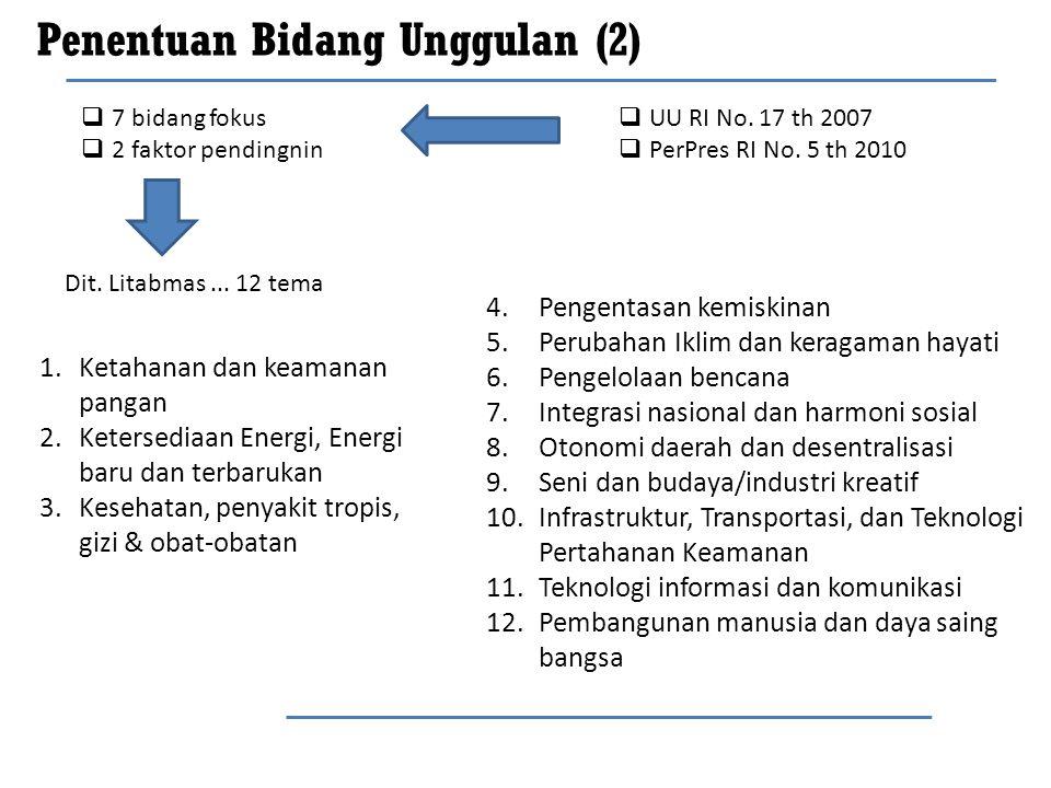 Penentuan Bidang Unggulan (2)