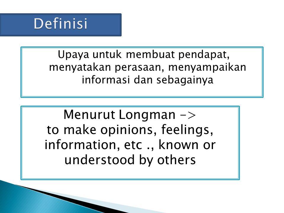 Definisi Menurut Longman ->