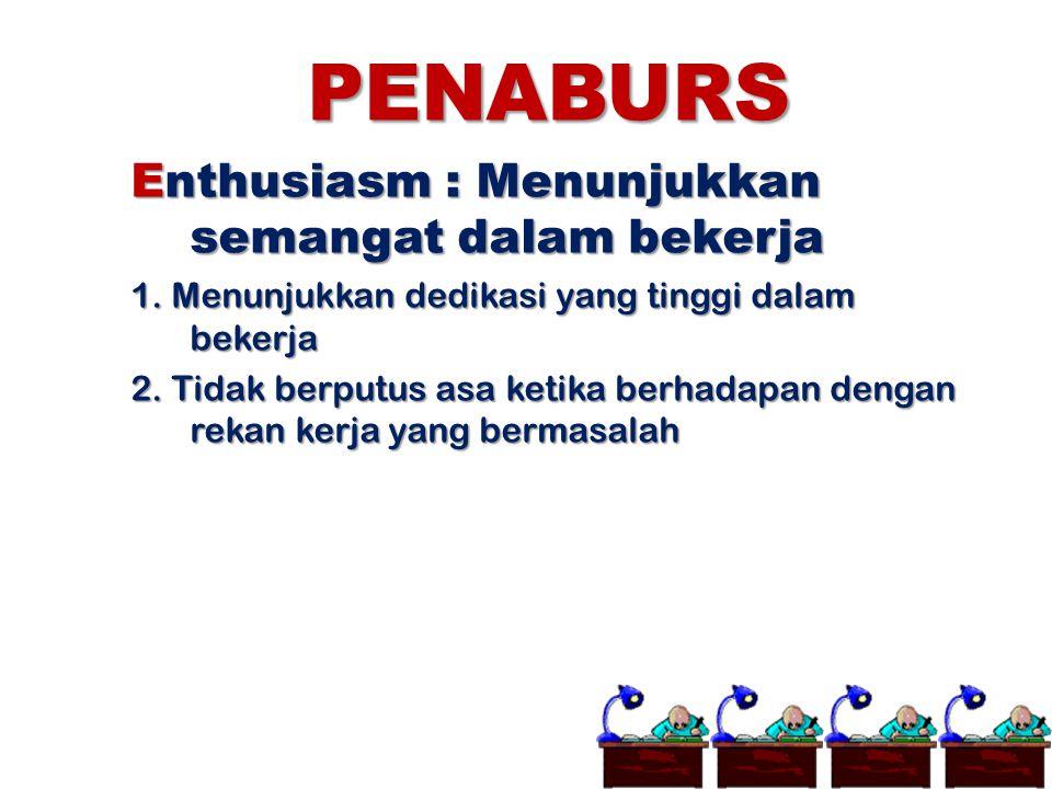 PENABURS Enthusiasm : Menunjukkan semangat dalam bekerja