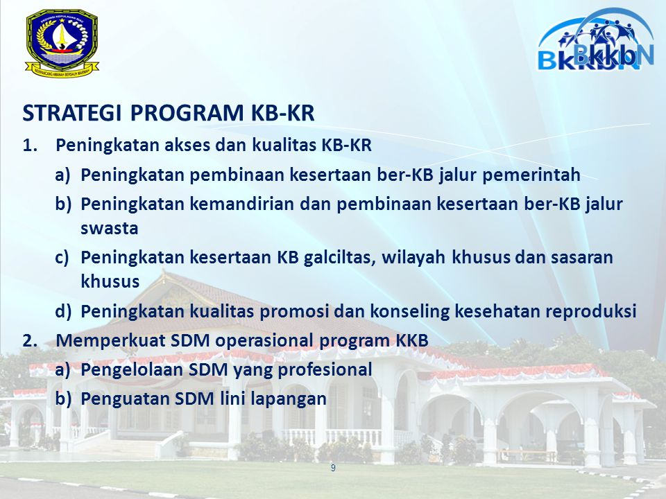 STRATEGI PROGRAM KB-KR