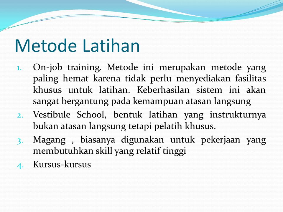 Metode Latihan