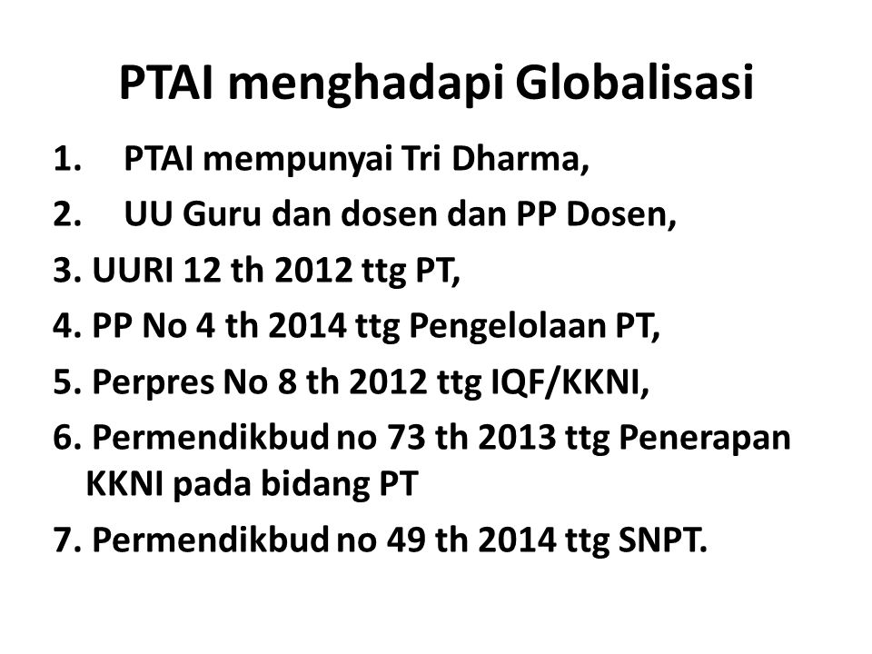 PTAI menghadapi Globalisasi