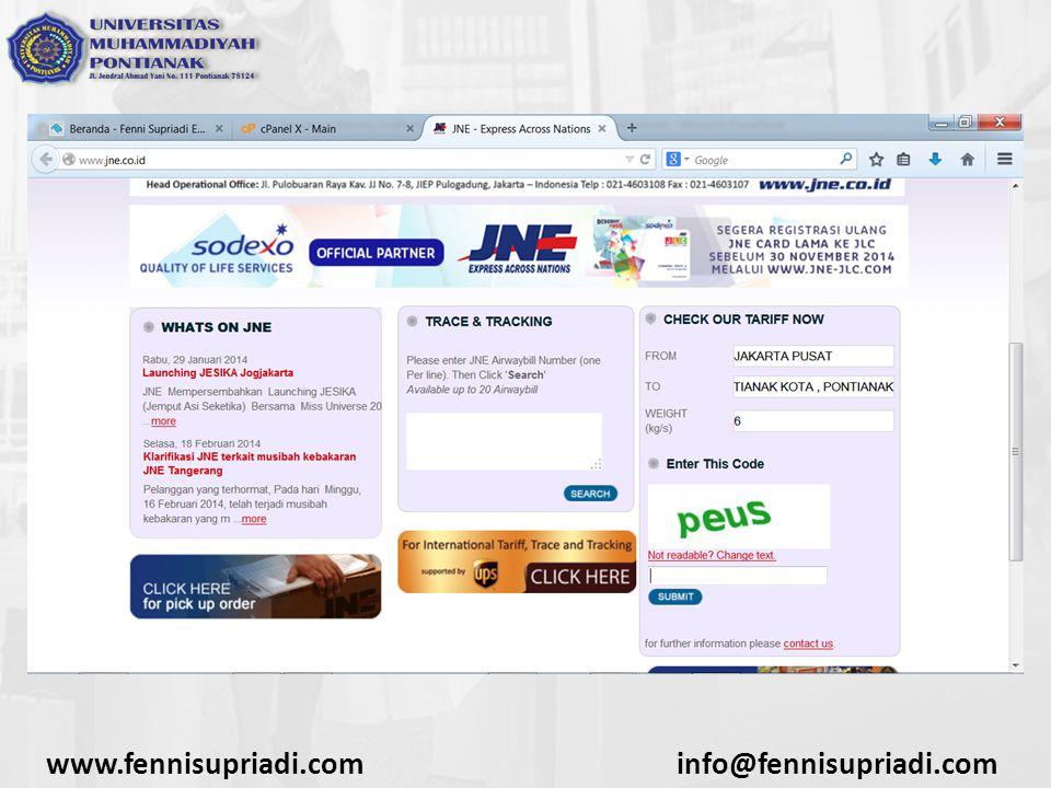www.fennisupriadi.com info@fennisupriadi.com